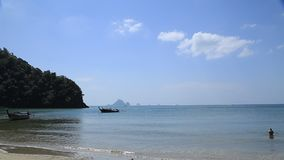 Sea view from tropical beach with sunny sky. Summer paradise beach, Travel, sea. In Thailand stock video
