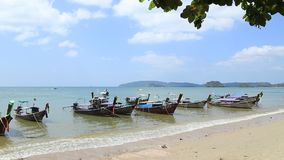 Sea view from tropical beach with sunny sky. Summer paradise beach, Travel, sea. In Thailand stock video footage