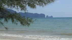 Sea view from tropical beach with sunny sky. Summer paradise beach, Travel, sea. In Thailand stock footage