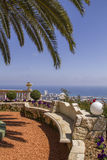 Sea view from Tropical Garden , Haifa North Israel Stock Images