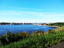Sea view at Tynemouth. City view by the sea at Tynemouth England Royalty Free Stock Photography