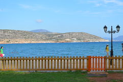 Sea view from Varkiza Greece Stock Photography
