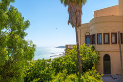 Sea View from the villa of Sciacca Royalty Free Stock Photos