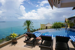 Sea view from villa. In Thailand Royalty Free Stock Image