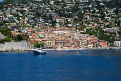 Sea view at Villefranche Sur Meer at french riviera Royalty Free Stock Photo