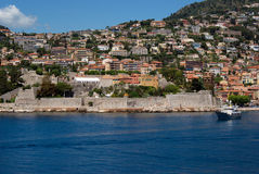 Sea view at Villefranche Sur Meer at french riviera Stock Images