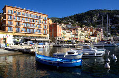 Sea view at Villefranche Sur Meer harbour at french riviera Stock Photo