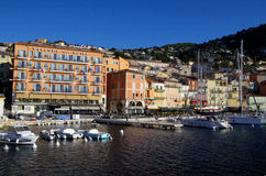Sea view at Villefranche Sur Meer harbour at french riviera Royalty Free Stock Images