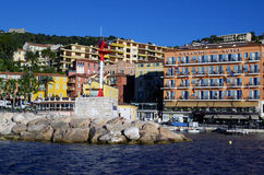 Sea view at Villefranche Sur Meer harbour at french riviera Royalty Free Stock Image