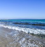 The sea view. The wave rushes to the shore Royalty Free Stock Images