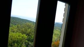 Sea view from window. Budva, Montenegro stock video