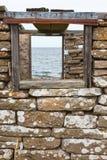 Sea view through a window Royalty Free Stock Photos