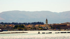 Sea view Zakynthos (Zante) town, Greece. Royalty Free Stock Photo