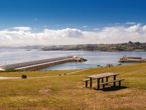 Sea views in Asturias. Views of the sea from public park in Asturias Stock Image