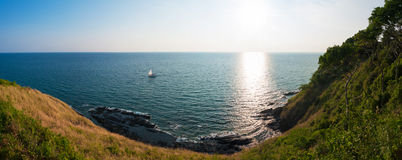 Sea views from cliffs Stock Photography