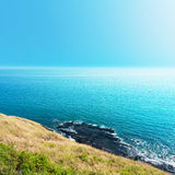 Sea views from cliffs Stock Photo