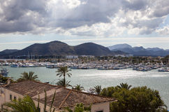 Sea views of the harbor and mountains Stock Photo