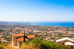 Sea views from the mountains Stock Photo