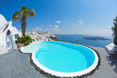 Sea views and pool Stock Images