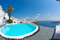 Sea views and pool Stock Image