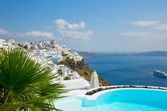 Sea views and pool Royalty Free Stock Photos