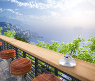 Sea Views and seats vacation concept background
