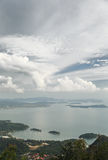Sea views. View from the top of the mountain to the sea. Langkawi. Malaysia Stock Photography