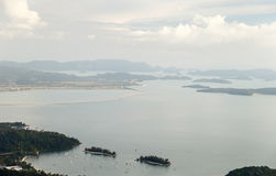Sea views. View from the top of the mountain to the sea. Langkawi. Malaysia Stock Photo