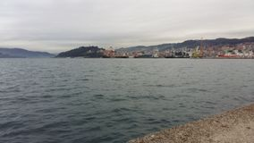 The sea at Vigo, Spain. royalty free stock image
