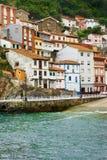 Sea village. Cudillero.Fishing town in northern Spain Stock Image