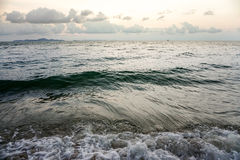 Sea, vintage a photo and wave soft pastel colors. Solf focus. Royalty Free Stock Image