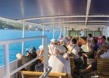 A sea voyage along the shore. Stock Photo