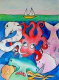 Sea voyage vector illustration