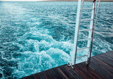 During the sea voyage Royalty Free Stock Photography
