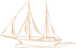 Sea voyage vector Royalty Free Stock Photography