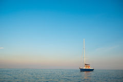 Sea voyage on a yacht. Royalty Free Stock Photos