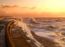 Sea-wall Stock Image