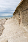 Sea Wall. A sea wall built to protect the village of Lancing in West Sussex Royalty Free Stock Image