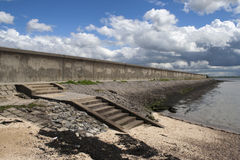 Sea wall on Canvey Island Royalty Free Stock Photos