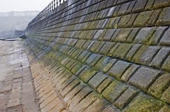 Sea wall defense Stock Image