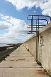 Sea wall ladder Royalty Free Stock Images
