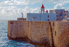 Sea Wall and Port of Acre Stock Photography