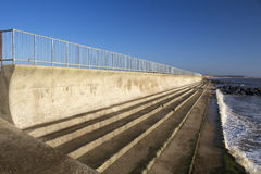 Sea wall at Southwold, Suffolk, England Royalty Free Stock Photos