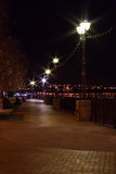 Sea Wall Walk at Night stock photography