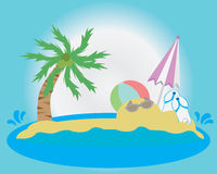 Sea Wallpaper. Sea Cartoon Vector illustration Wallpaper Stock Photo