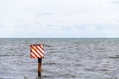 Sea Warning Sign Stock Photos