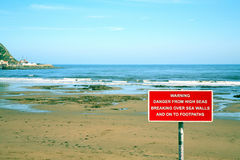 Sea warning sign. Stock Images