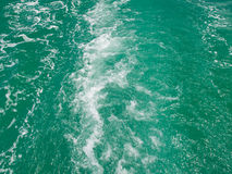 Sea Water. After a ship Royalty Free Stock Photo