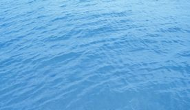 Sea water. Beautiful blue rippled sea water surface with sun reflections Stock Photos