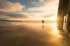 Sea, Water, Beach, People, Man Royalty Free Stock Images